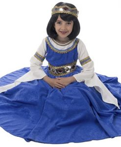Disfraz reina medieval infantil