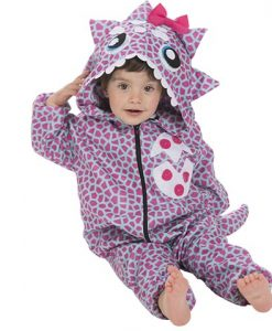Disfraz Dinosaurio rosa bebé