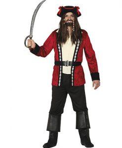 Disfraz Pirata Rojo hombre
