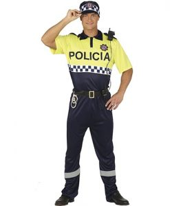 Disfraz policía local hombre