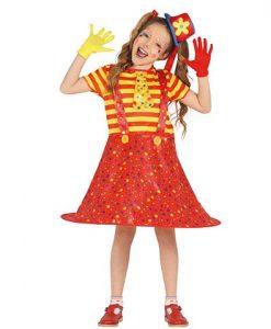 Disfraz Payasa Lunares niña