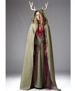 Capa Medieval Druidesa para mujer