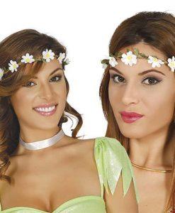 Corona de flores blanca