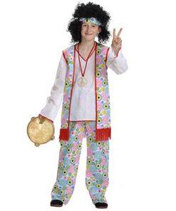 Disfraz Hippie Power niño