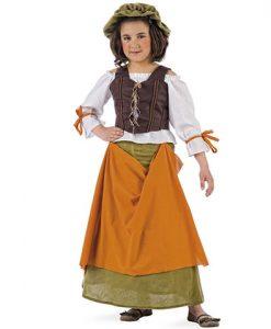 Disfraz Tabernera Medieval Agnes niño