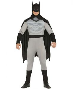 Disfraz de Hombre Murciélago Gris