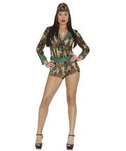 Disfraz Militar de Camuflaje mujer