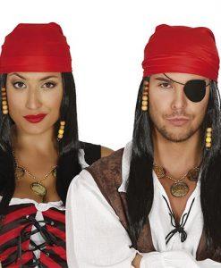 Peluca y Pañuelo Pirata