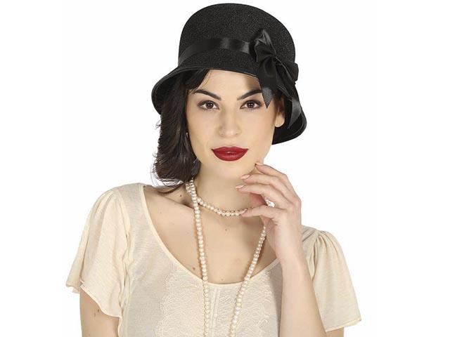busca lo mejor nueva productos calientes nuevo estilo Sombrero Dama años 20 negro