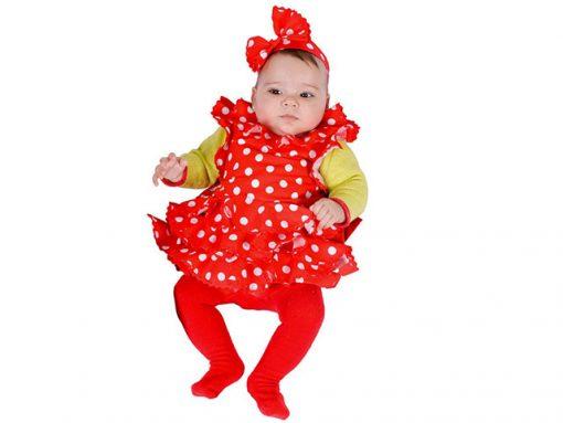 Disfraz Babero de Sevillana para bebé