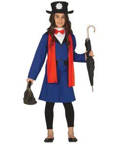 Disfraz de cuidadora Poppins infantil