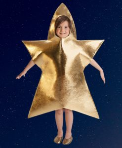 Disfraz estrella infantil dorada