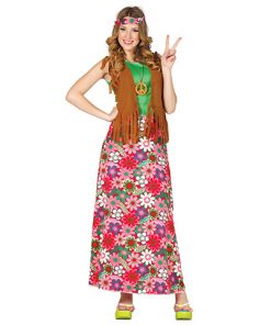 Disfraz Hippie Adhara para mujer