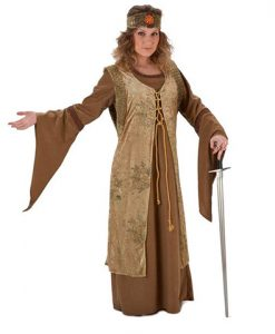 Disfraz de Dama Medieval Marrón