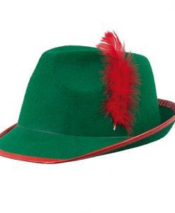 Sombrero de tirones con pluma