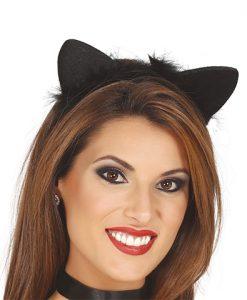 Diadema de gatita negra para mujer