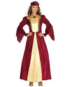 Disfraz dama medieval Coral para mujer