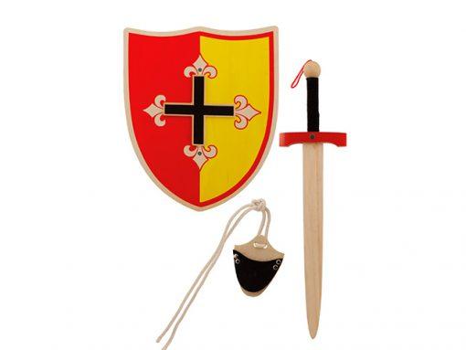 Set escudo y espada medieval de madera