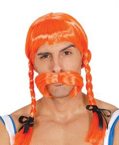 Peluca de galo naranja