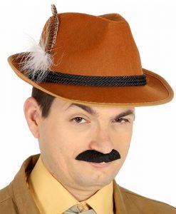 Sombrero de cazador con plumas