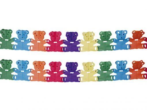Guirnalda ositos de papel multicolor