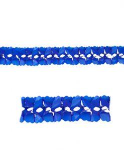 Guirnalda de papel azul