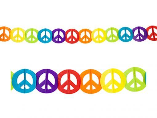 Guirnalda hippie paz