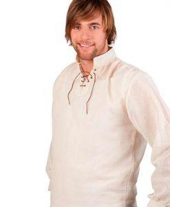 Camisa medieval con cuello.