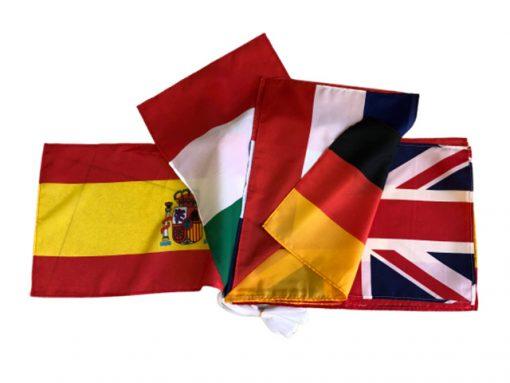 Guirnalda banderas de tela
