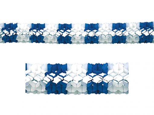 Guirnalda de papel blanca y azul