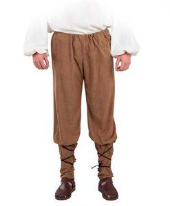 Pantalón medieval de antelan para hombre