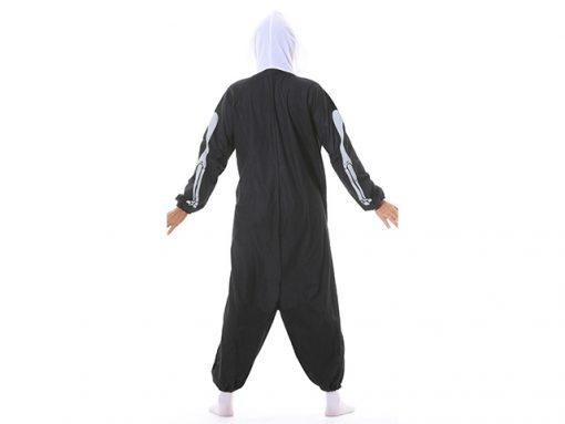 Disfraz esqueleto kigurumi trasera