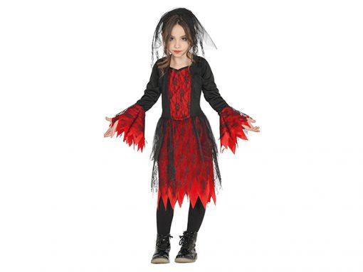 Disfraz de gótica para niña