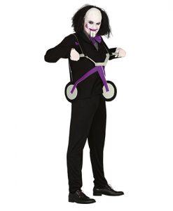Disfraz Saw con triciclo