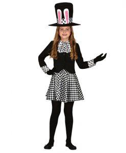 Disfraz de sombrerera loca para niña