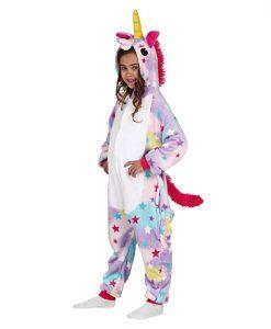 Disfraz tipo pijama de unicornio para niña