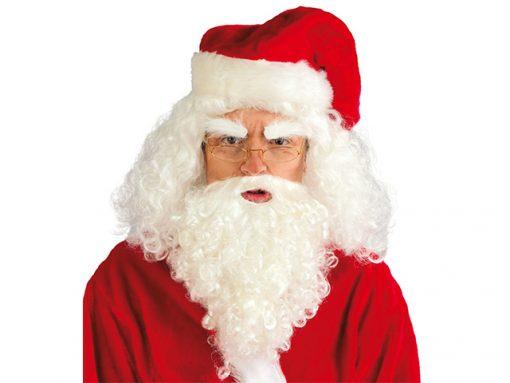 Peluca y barba de Papa Noel