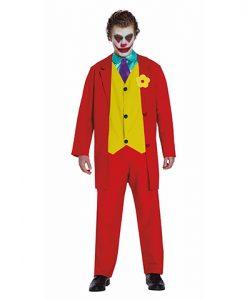 Disfraz de Joker rojo para hombre