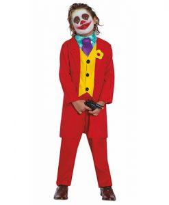 Disfraz Joker rojo niño