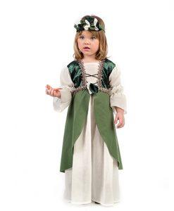 Disfraz medieval Clarisa para bebé