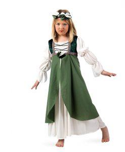Disfraz medieval Clarisa para niña