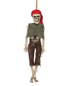Colgante esqueleto pirata 40cm