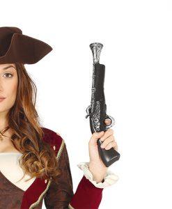Pistolón o trabuco pirata de plástico
