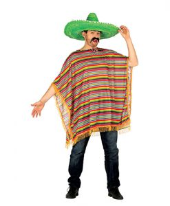 Poncho Mexicano adulto