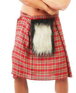 Falda escocesa para adulto