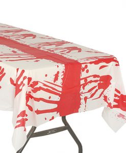 Mantel de plástico con sangre