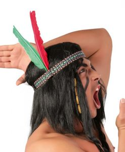 Cinta con plumas india