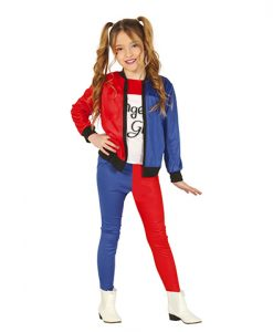 Disfraz de Harley Dangerous para niña