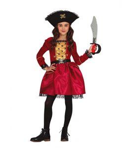 Disfraz Pirata Anne para niña