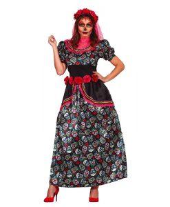 Disfraz Catrina multicolor para mujer